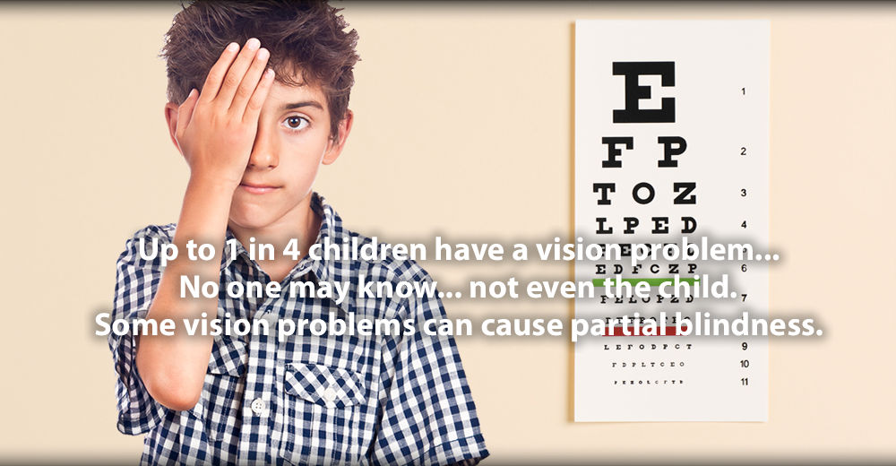Some vision problems can cause partial blindness.